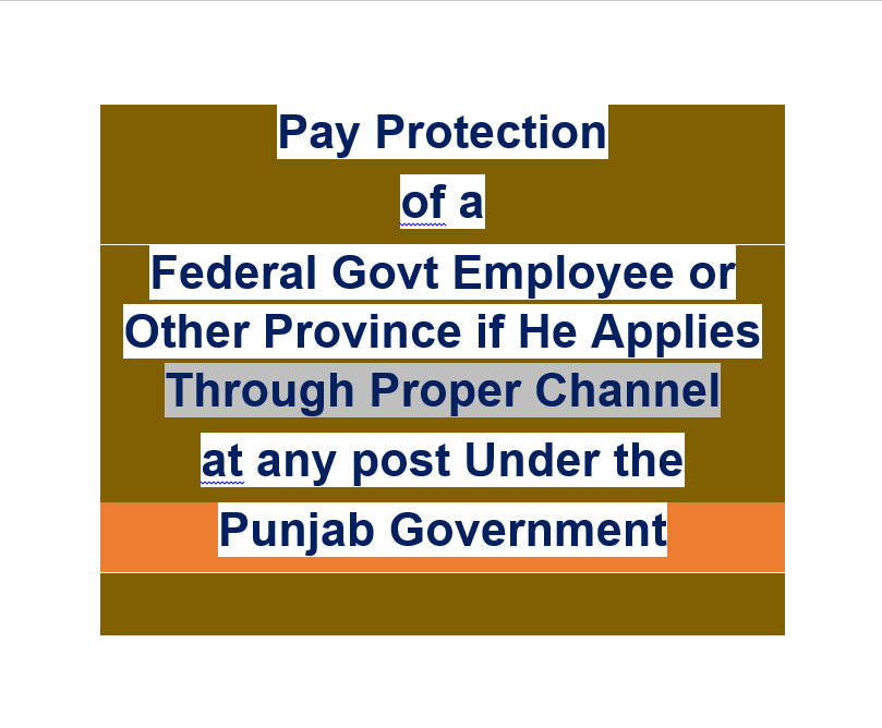 Pay Protection of a Federal Govt Employee