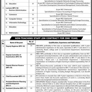 Teaching Non Teaching Vacancies in University of Sufism and Modern Sciences Bhitshah