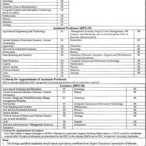 Teaching Staff Vacancies Ghazi University DG Khan