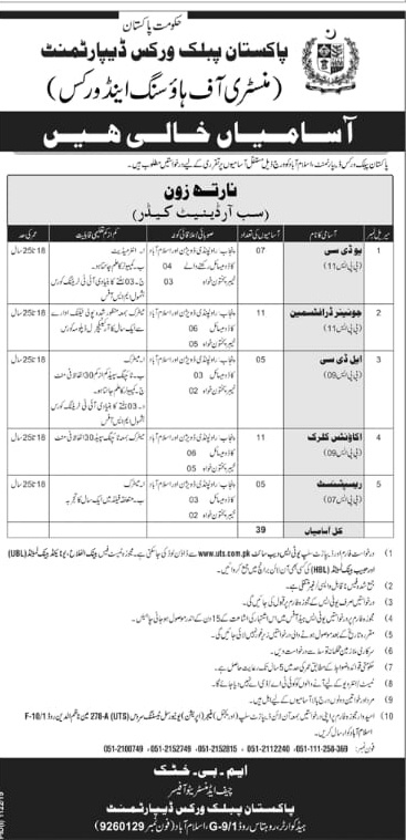 Vacancies Ministry of Housing and Works