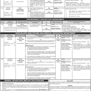 5100 Vacancies of Charge Nurses through PPSC Oct 2019 for Male & Female
