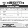 Government of Pakistan Finance Division Vacancies 2019