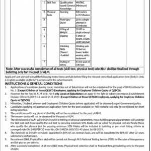 Jobs in QESCO (Quetta Electric Supply Company) 2019