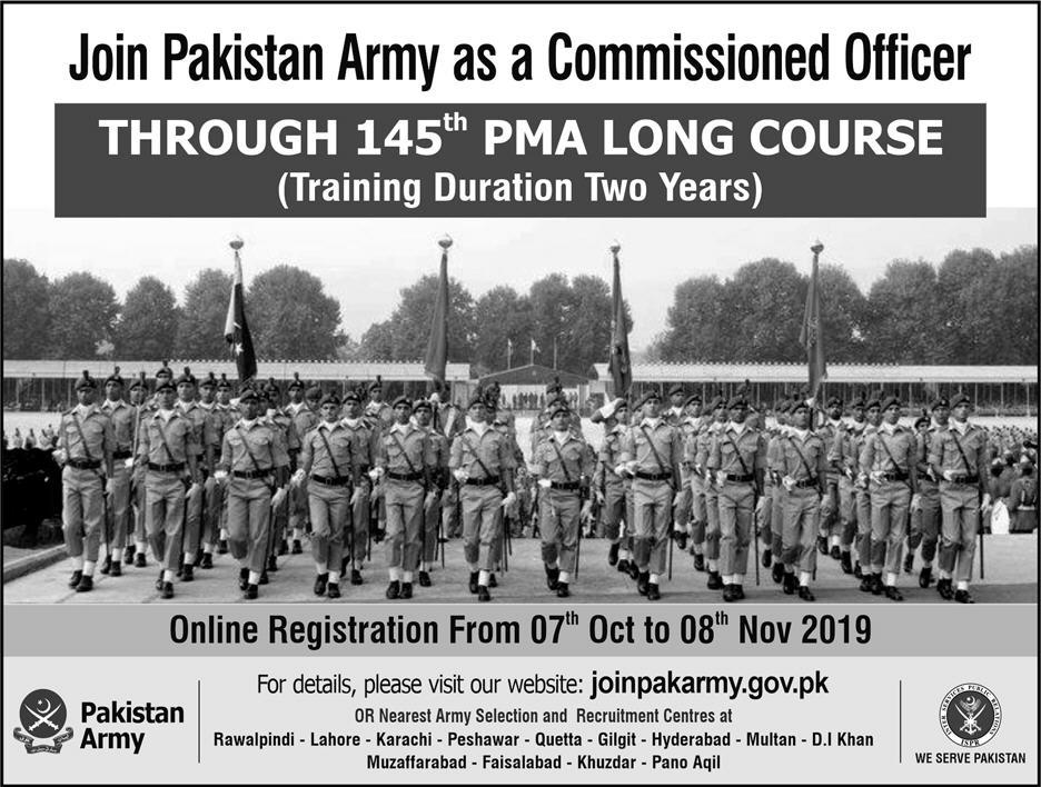 Pak Army Jobs 2019 as Commissioned Officer Apply Online