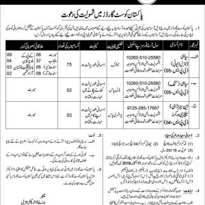 Pakistan Coast Guard Jobs 2019