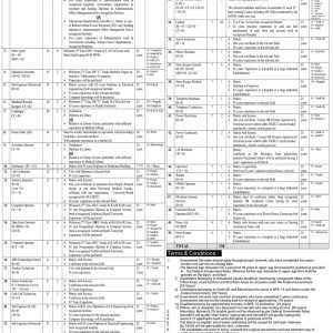Advertisement of Vacancies in PIMS Islamabad 2019 BPS-06 to BPS-15
