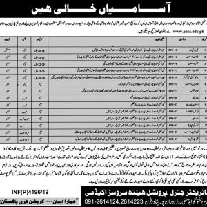 Vacancies in Professional Health Services Academy 2019
