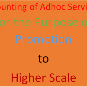 Counting of Adhoc Service for Promotion Purpose