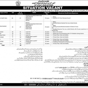 Job Opportunities in Health Department Islamabad November 2019