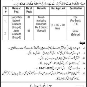 Vacancies in National Telecommunication 2019 & Fisheries Department Punjab jobs