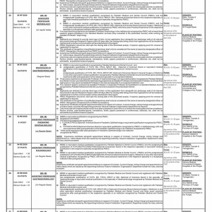 Health Department Punjab Jobs 2020 Vide PPSC Ad No. 04 / 2020