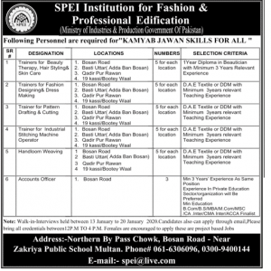 Jobs in SPEI Institution for Fashion & Professional Edification