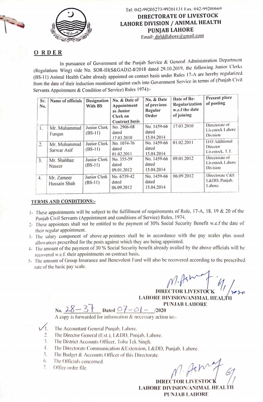 Regularization from Date of Contract Appointment