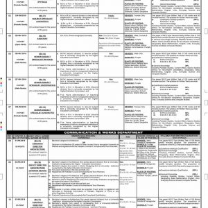Jobs in Many Departments & Teaching Vacancies PPSC Advertisement No. 01/2020