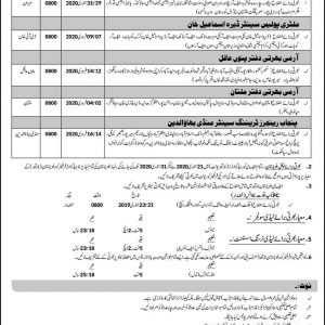 Recruitment for Frontier Corps Balochistan (North) for Punjab, Sindh, Balochistan & KPK
