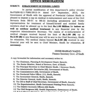 Notification of Enhancement of Powers Indoor and Outdoor Medical Treatment