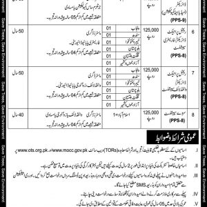 Jobs in Ministry of Climate on Standard Pay Package through OTS