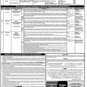 Punjab Public Service Commission Vacancies 2020 Advertisement No. 08