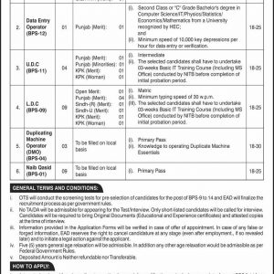 Ministry of Defence, Revenue Economic Affairs Jobs 2020 Through OTS