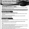 Ad of PEEF International PhD Scholarships 2020-21