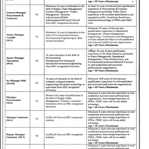 Career Opportunities in Lahore Waste Management Company