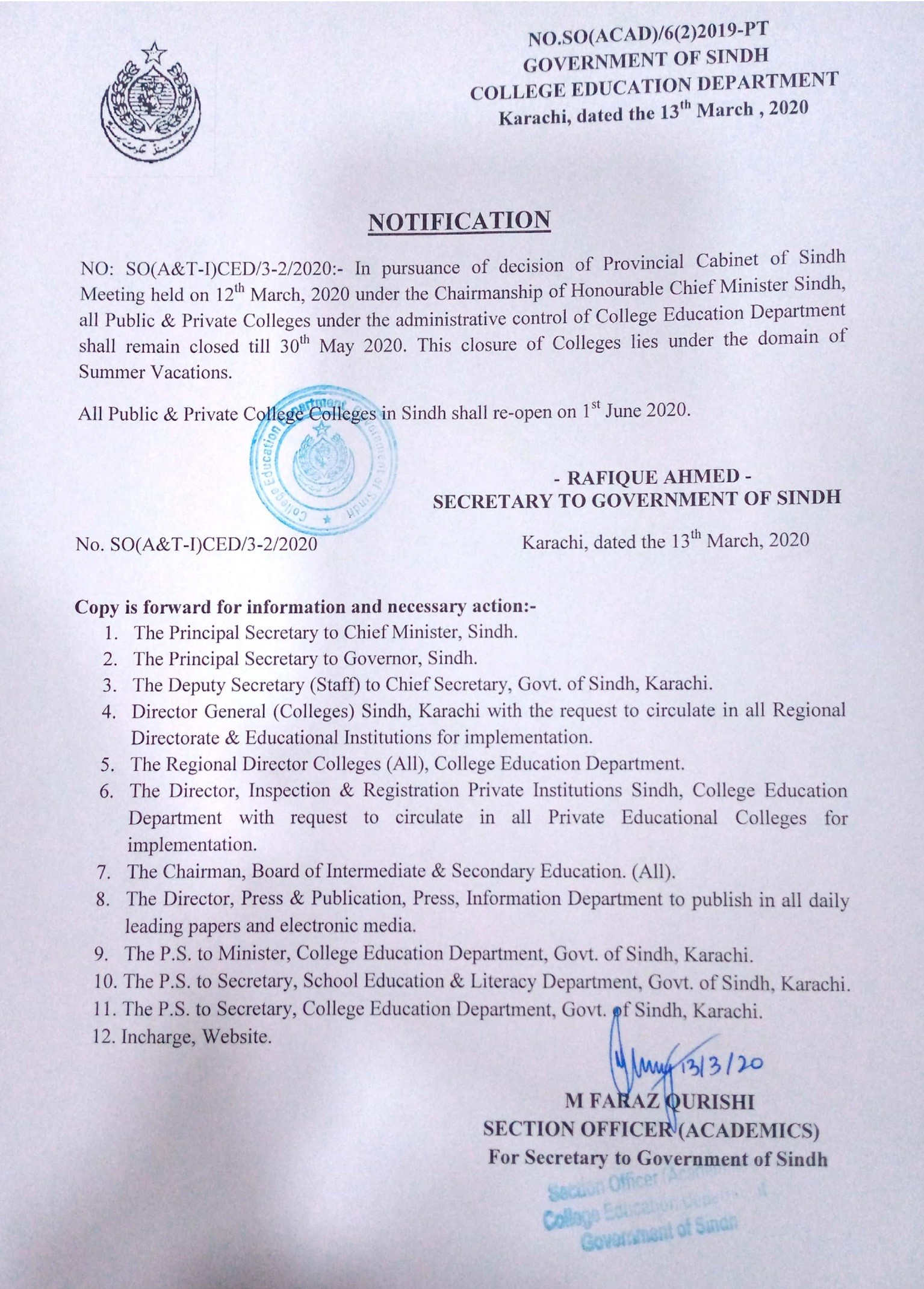 Sindh Colleges
