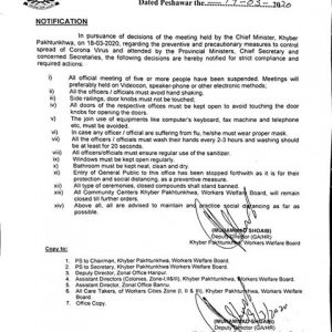 Decisions Made for Employees / Government Offices KPK