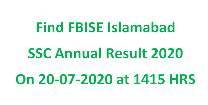 Check Online Federal Board SSC Result 2020