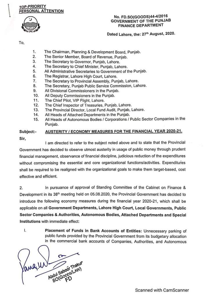 Ban in Punjab on Upgradation of the Posts