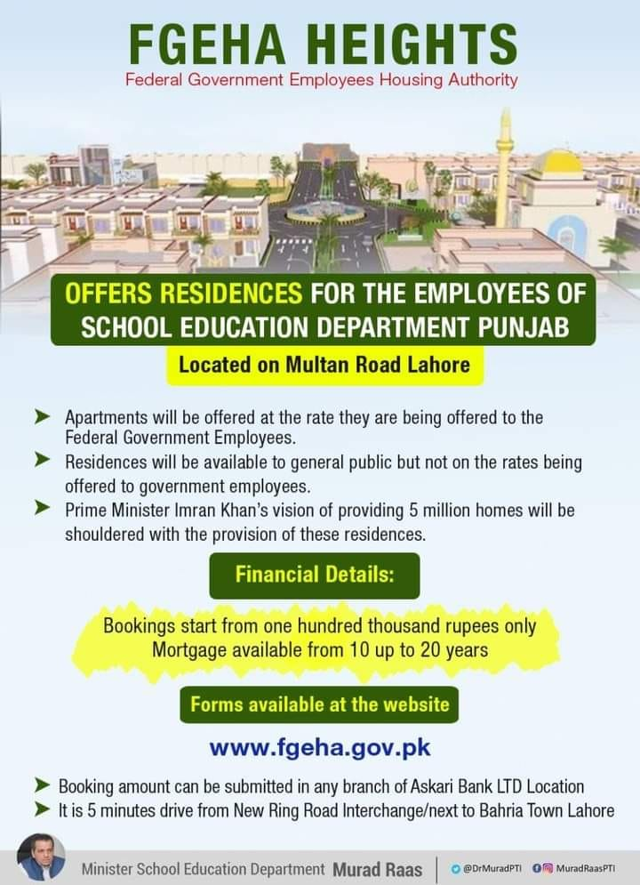 Residencies for Punjab Govt Employees