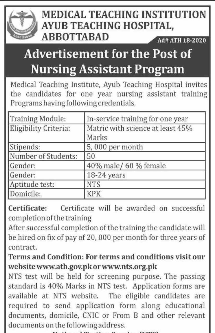 One Year Training for Nursing Assistant Program ATH