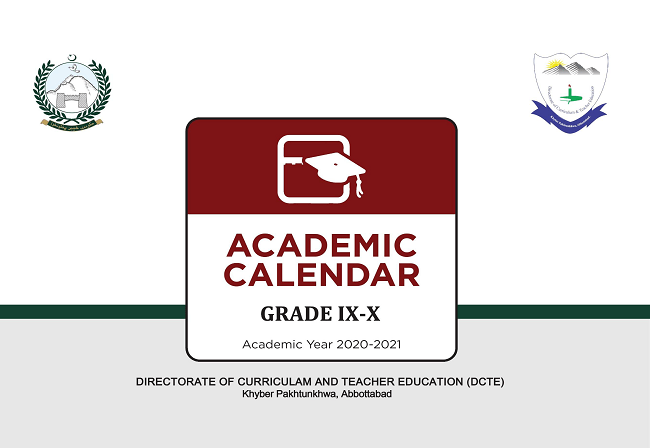 Accelerated Academic Calendar for Class IX –X Year 2020-21 for SSC Examination KPK