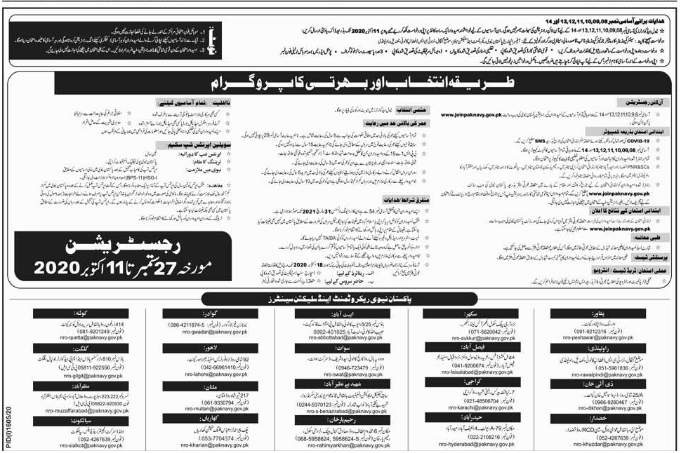 Pak Navy Jobs 2020 Oct