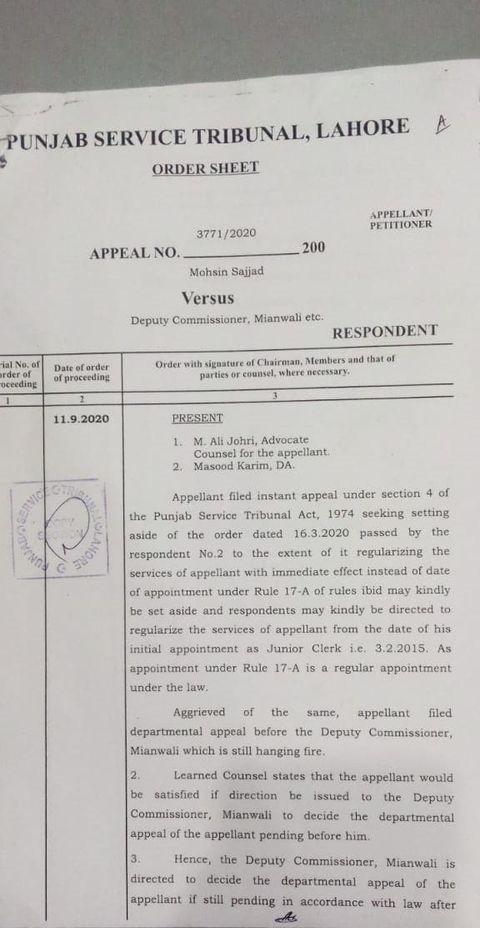 Regularization from First Appointment Instead of With Immediate Effect