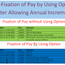 Re-Fixation of Pay by Using Option after Allowing Annual Increment