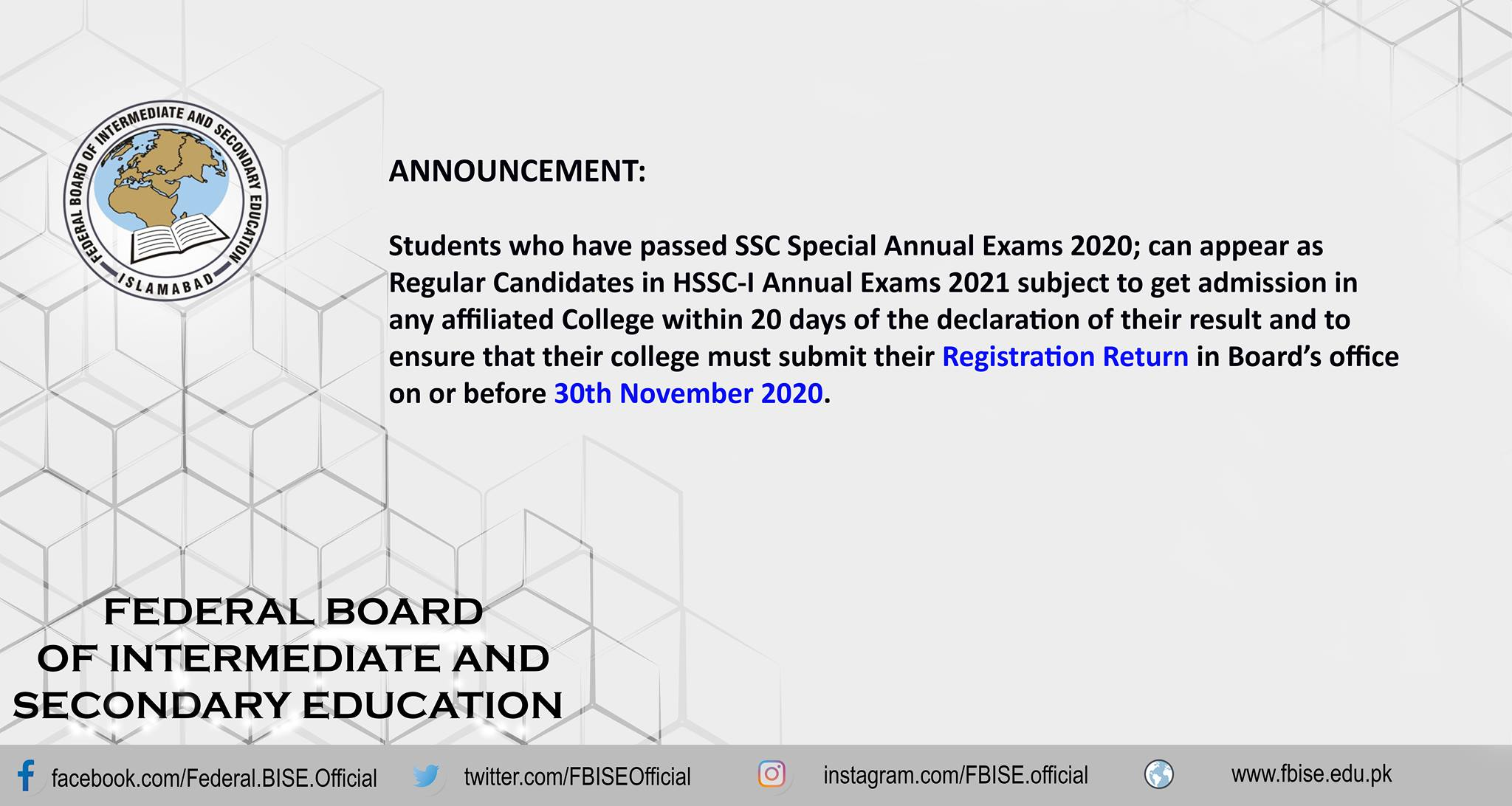Future of Students Who Passed Special Examination 2020