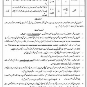 District & Session Courts Chakwal Jobs through CTS