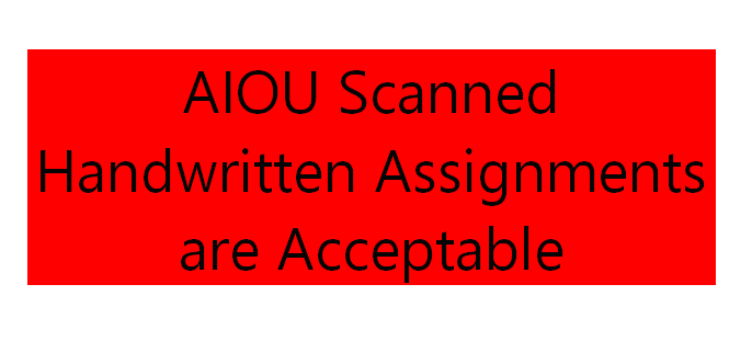 AIOU Scanned Handwritten Assignments