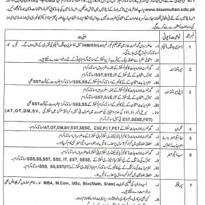 BISE Multan Exams and Marking Duties for SSC & HSSC Annual Exams 2021