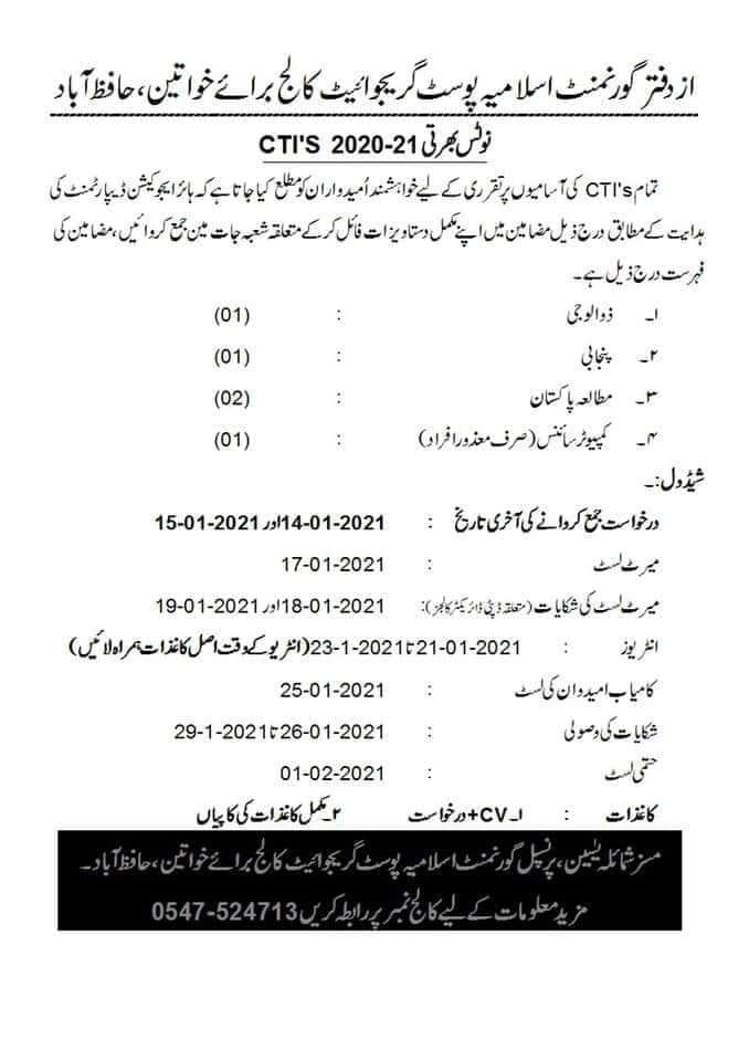 Govt Postgraduate College for Women Hafizabad