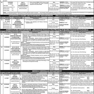 Jobs through Punjab Public Service Commission 2021 Announcement No. 01
