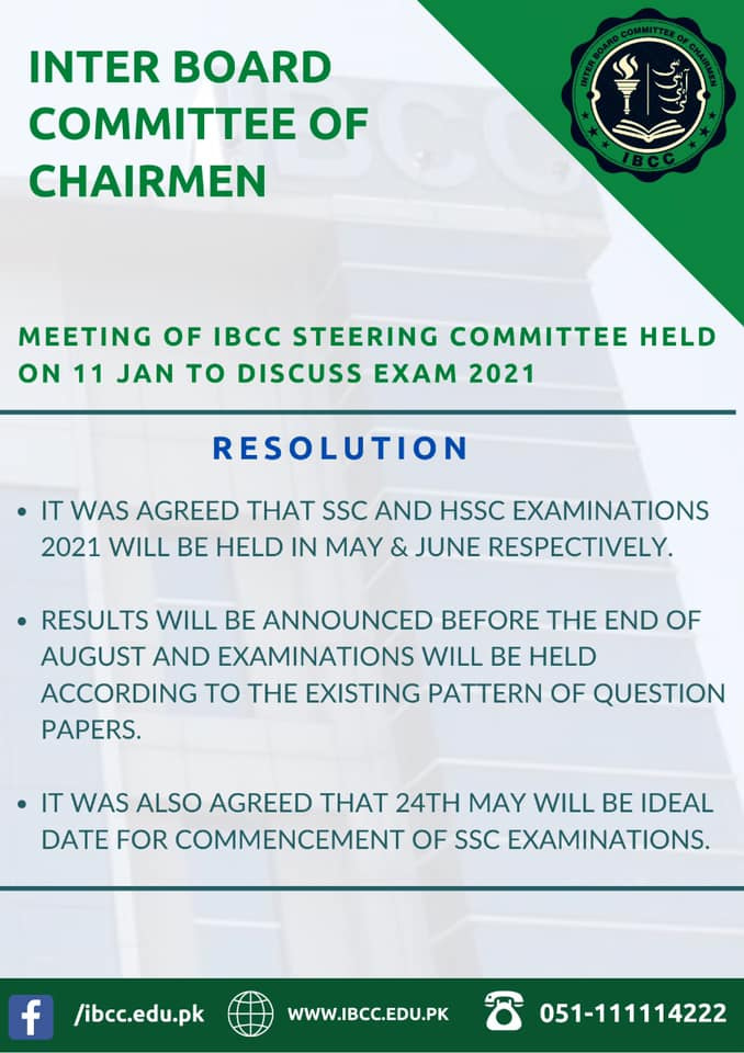 Ideal Date of Commencement of SSC Annual Exams 2021
