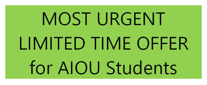 Limited Time Offer for Students Who Have Missed AIOU Workshop