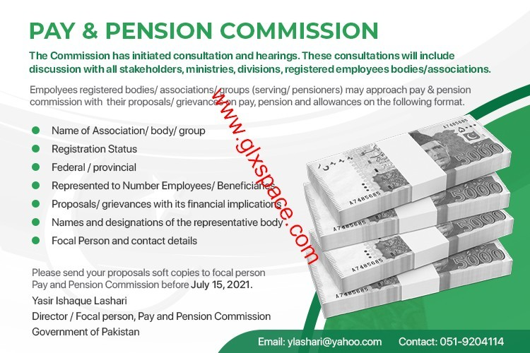 Pay & Pension Commission Proposals on Pay, Pension and Allowances