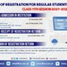 Schedule of Registration FBISE Class XI Session 2021-2023